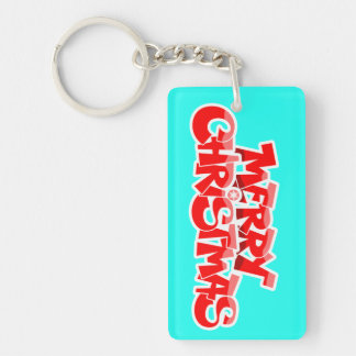 merry christmas and happy new year keychain