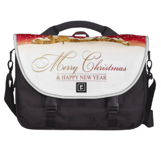 Merry Christmas and Happy New Year Laptop Commuter Bag