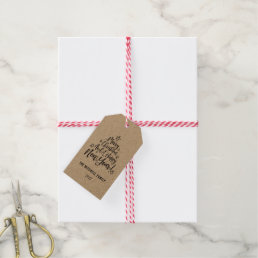 merry christmas and happy new year photo gift tags