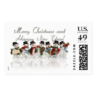 merry christmas and happy new year stamps