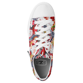 merry christmas and happy new year printed shoes