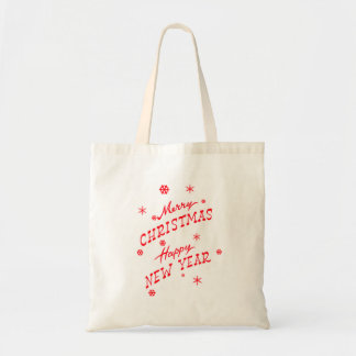 Merry Christmas and Happy New Year Retro Tote Bag