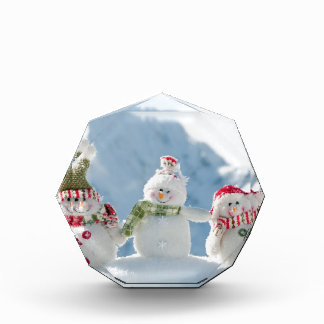 Merry Christmas and Happy New Year Snowmen Awards