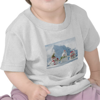 Merry Christmas and Happy New Year Snowmen Tees