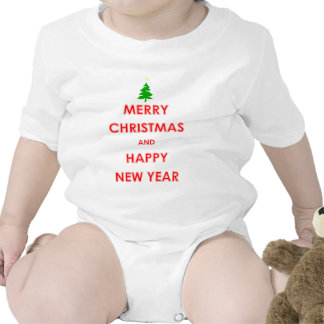 Merry Christmas and Happy New Year Baby Creeper