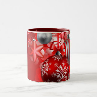 Merry Christmas and Happy New Year Two-Tone Coffee Mug