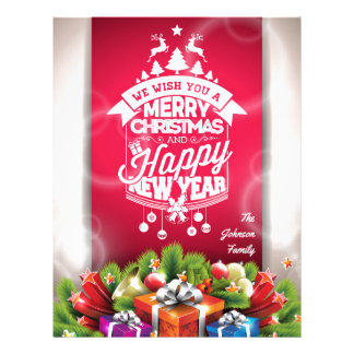 Merry Christmas and Happy New Year typography. Letterhead