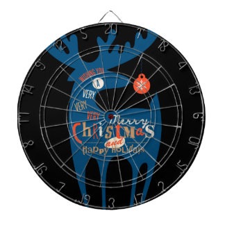 merry christmas and happy newyear dart board