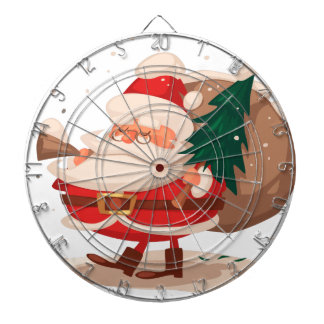 merry christmas and happy newyear dartboard