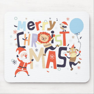 merry christmas and happy newyear mouse pad