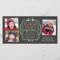 Merry Christmas and Joy Holiday Card
