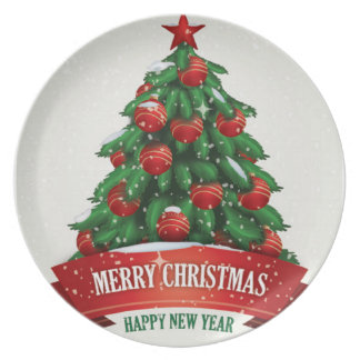 Merry Christmas and New Year Plates