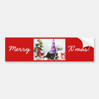 Merry Christmas and Pucca. Bumper Sticker