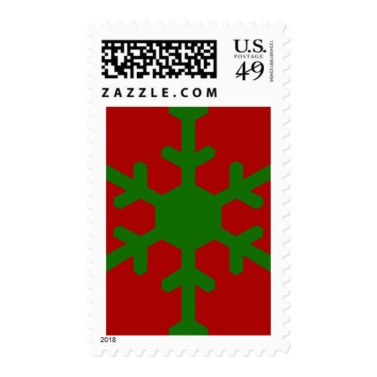 Merry Christmas and Seasons Greetings Card 1 Postage