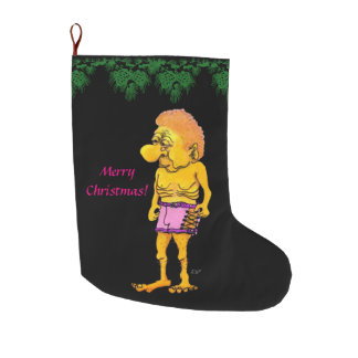 Merry Christmas and The new Men Large Christmas Stocking