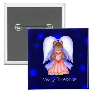 Merry Christmas (angel bear) Button