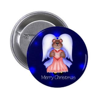 Merry Christmas (angel bear) Pins