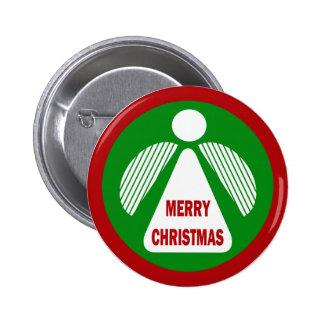 Merry Christmas Angel Pinback Button