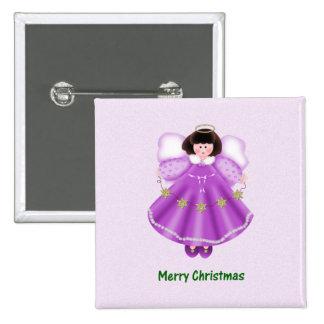 Merry Christmas (angel - purple) Pins