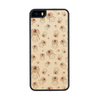 Merry Christmas Angel - Random Holiday Collage Carved® Maple iPhone 5 Slim Case