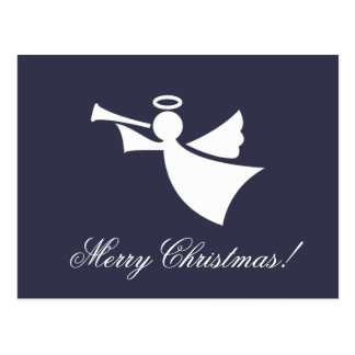 Merry Christmas angel silhouette postcards