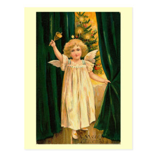 Merry Christmas Angel with Bell Postcard