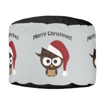 Merry Christmas Angry Owl Pouf