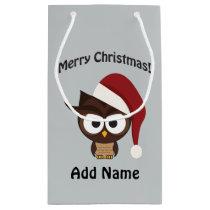 Merry Christmas Angry Owl Small Gift Bag