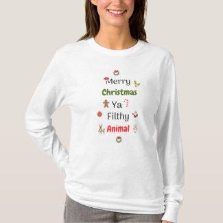 Merry Christmas Animal T-Shirt