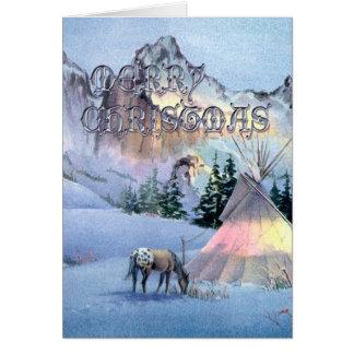 MERRY CHRISTMAS APPALOOSA by SHARON SHARPE Card