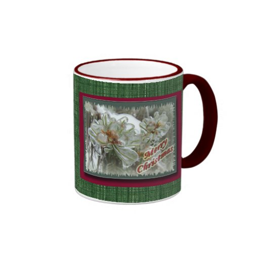 Merry Christmas Arborvitae Tips in Ice Mug