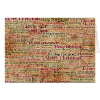 Merry Christmas around the World Card
