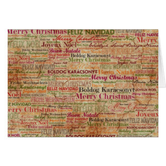 Merry Christmas around the World Greeting Card