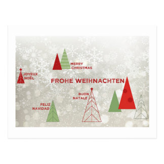 Merry Christmas Around the World Postcard