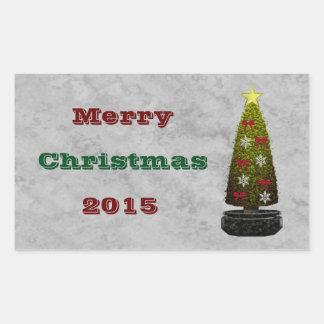 Merry Christmas Art Deco Sticker