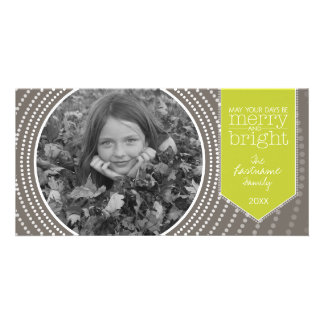 Merry Christmas - Art Deco with One Picture Photo Card