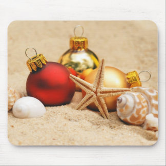 Merry Christmas At the Beach Mouse Pad