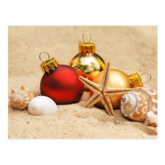 Merry Christmas At the Beach Post Card
