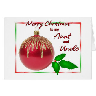 Merry Christmas Aunt And Uncle Cards | Zazzle