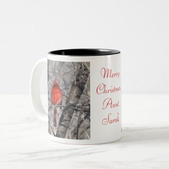 Merry Christmas Aunt Coffee Mug by Janz