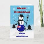Merry Christmas Australia Snowman