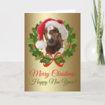 Merry Christmas Baby Boer Goat Oil Painting Holiday Card