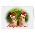 Merry Christmas Baby Chipmunks Card