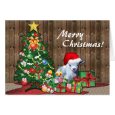 Merry Christmas Baby Goat Card