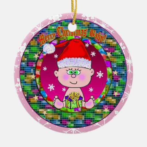 Merry Christmas Baby Ornament