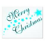"""MERRY CHRISTMAS BABYBLUE 4.25"""" X 5.5"""" INVITATION CARD"""