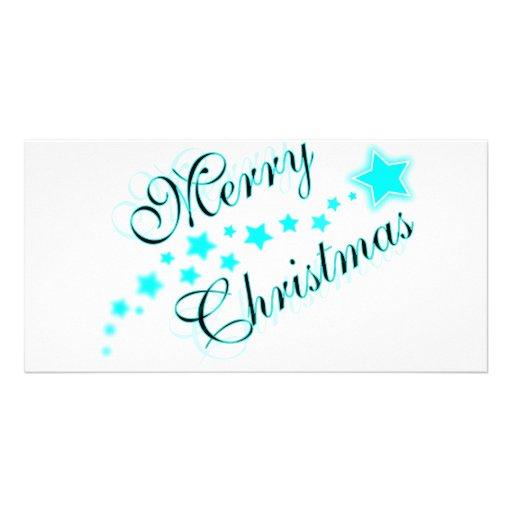 MERRY CHRISTMAS BABYBLUE PHOTO CARD TEMPLATE