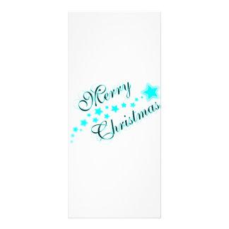 MERRY CHRISTMAS BABYBLUE RACK CARD DESIGN
