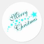 MERRY CHRISTMAS BABYBLUE STICKER