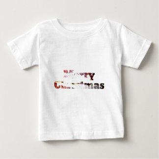 Merry Christmas Bacon Print Baby T-Shirt
